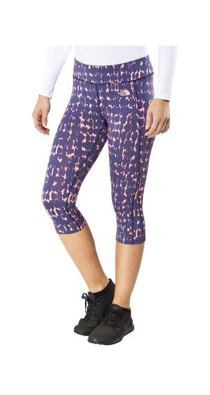 The North Face W's Pulse Capri Tight Patriot Blue Sketchy Marker Print